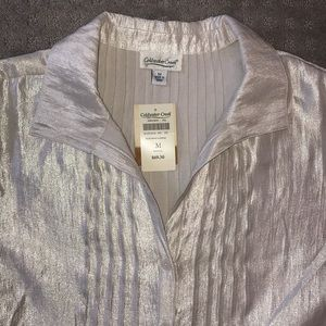 Coldwater Creek szM NWT iridescent beige blouse